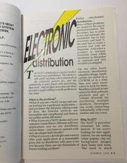 Electronic Distribution. This article first published in print, Summer 1992