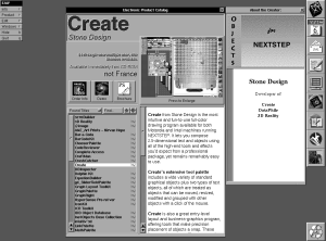 A $449.00 Create drawing application from Stone Design, offered for sale on the AppWrapper electronic product catalog.